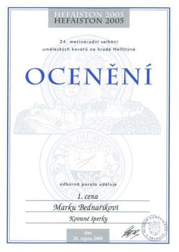 oceneni-kovane-sperky-1cenu-hefaiston-2005