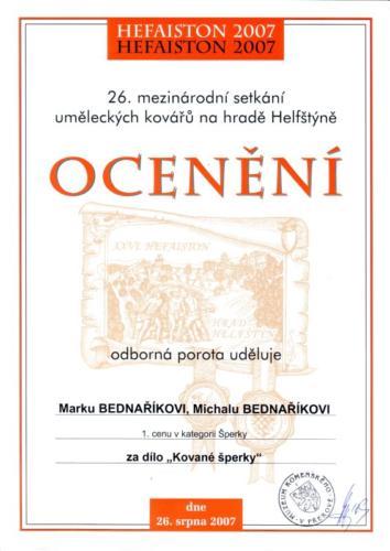 kovane-sperky-oceneni-2007-bednarikovi