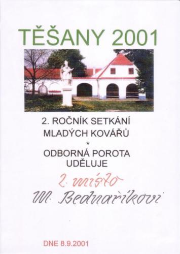 setkani-mladych-kovaru-tesany-2001-2misto-bednarikovi