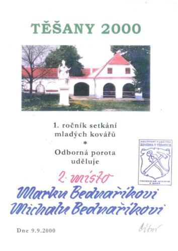 setkani-mladych-kovaru-tesany-2000-2misto-bednarikovi